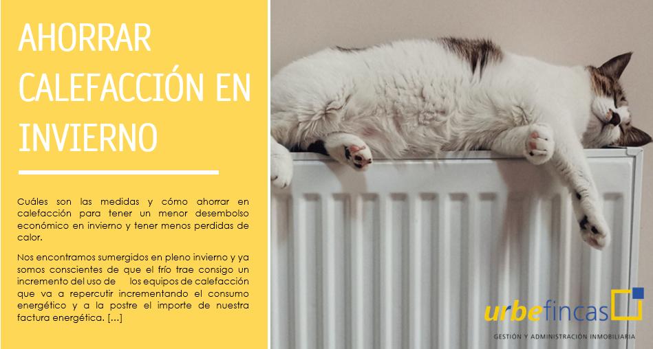 ahorrar calefacción en invierno
